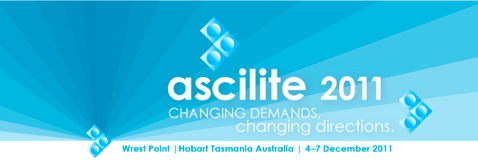 Ascilite 2011 banner