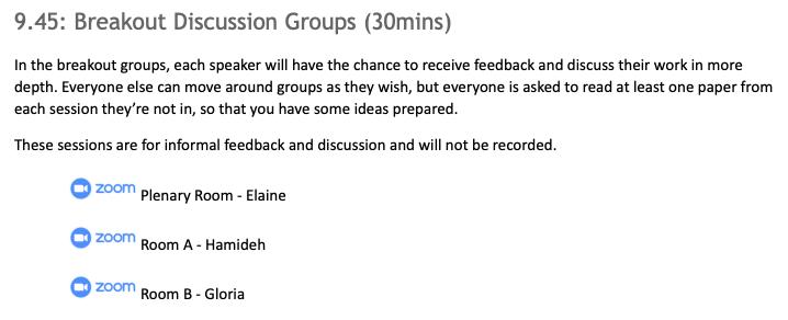 Flexible breakout group instructions